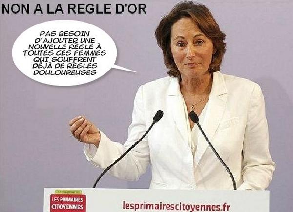 SEGOLENE ROYAL CONTRE LA REGLE D'OR
